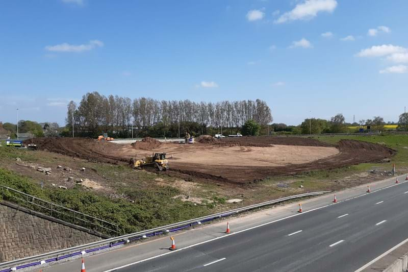 Roundabout site clearance
